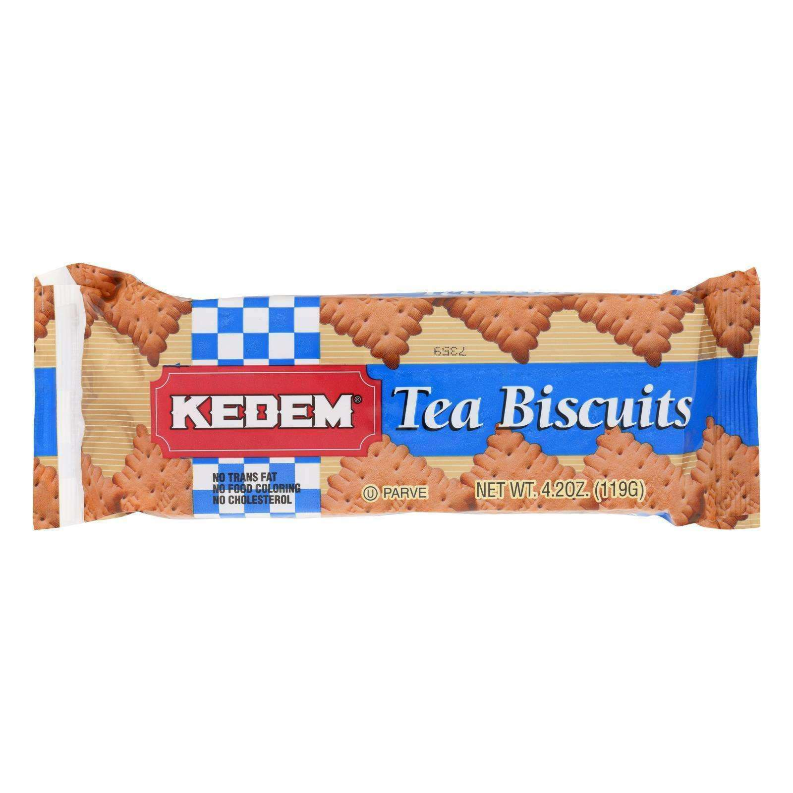 Kedem Tea Biscuits - Plain - Case Of 24 - 4.2 Oz. - BeeGreen