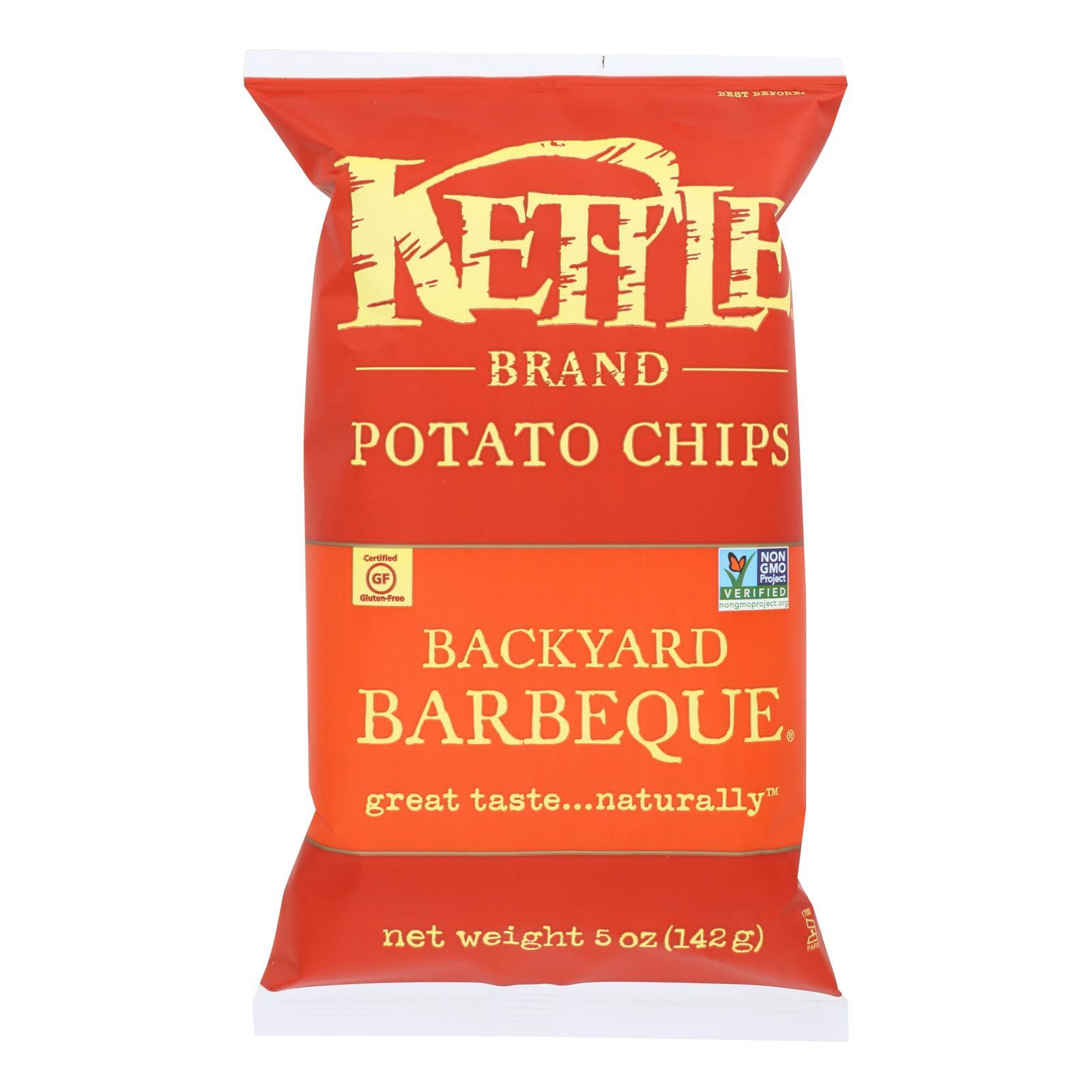 Kettle Brand Potato Chips - Backyard Barbeque - Case Of 15 - 5 Oz. - BeeGreen