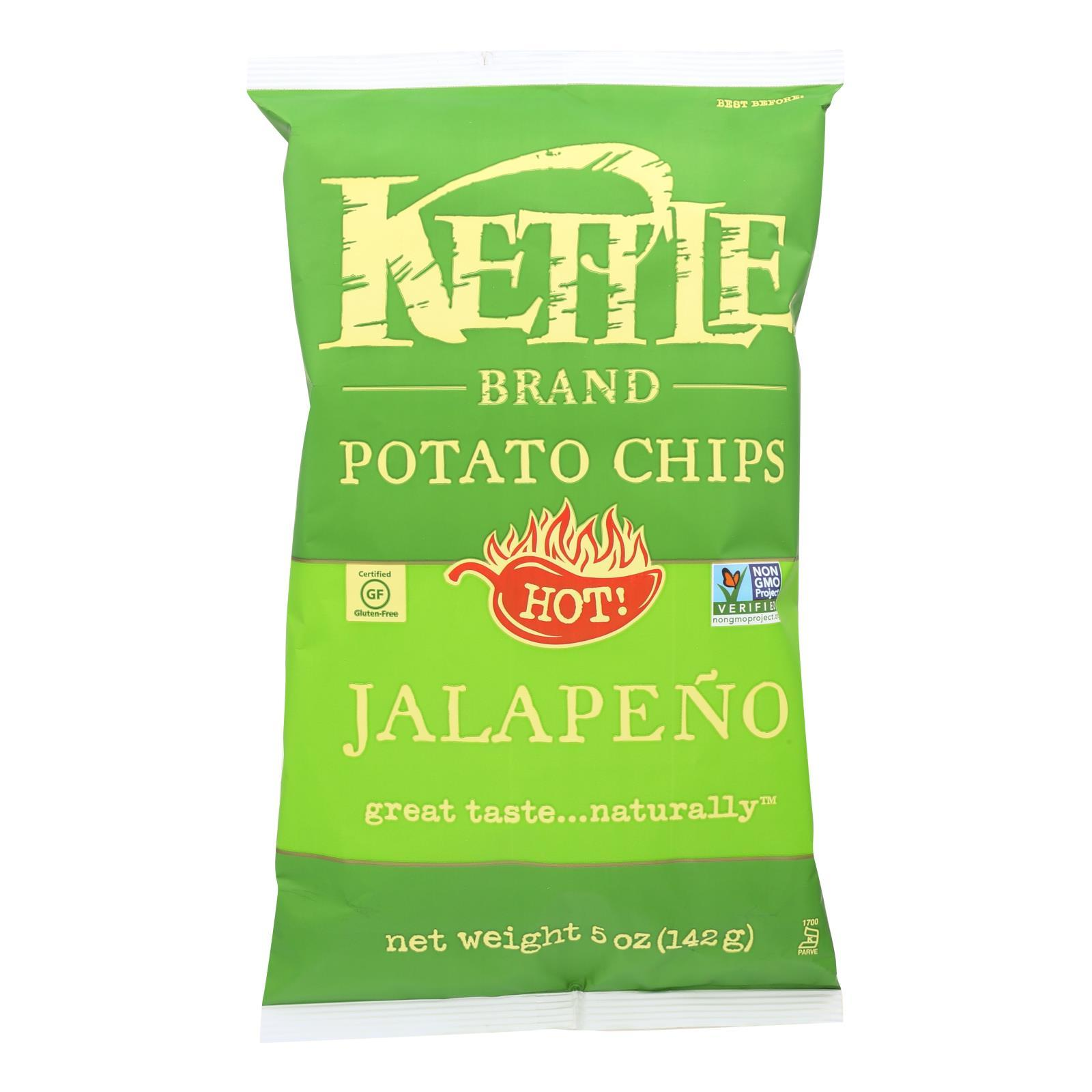 Kettle Brand Potato Chips - Jalapeno - Case Of 15 - 5 Oz. - BeeGreen