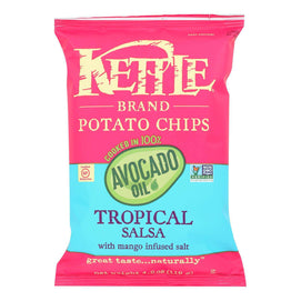 Kettle Brand Potato Chips - Tropical Salsa - Case Of 15 - 4.2 Oz. - BeeGreen