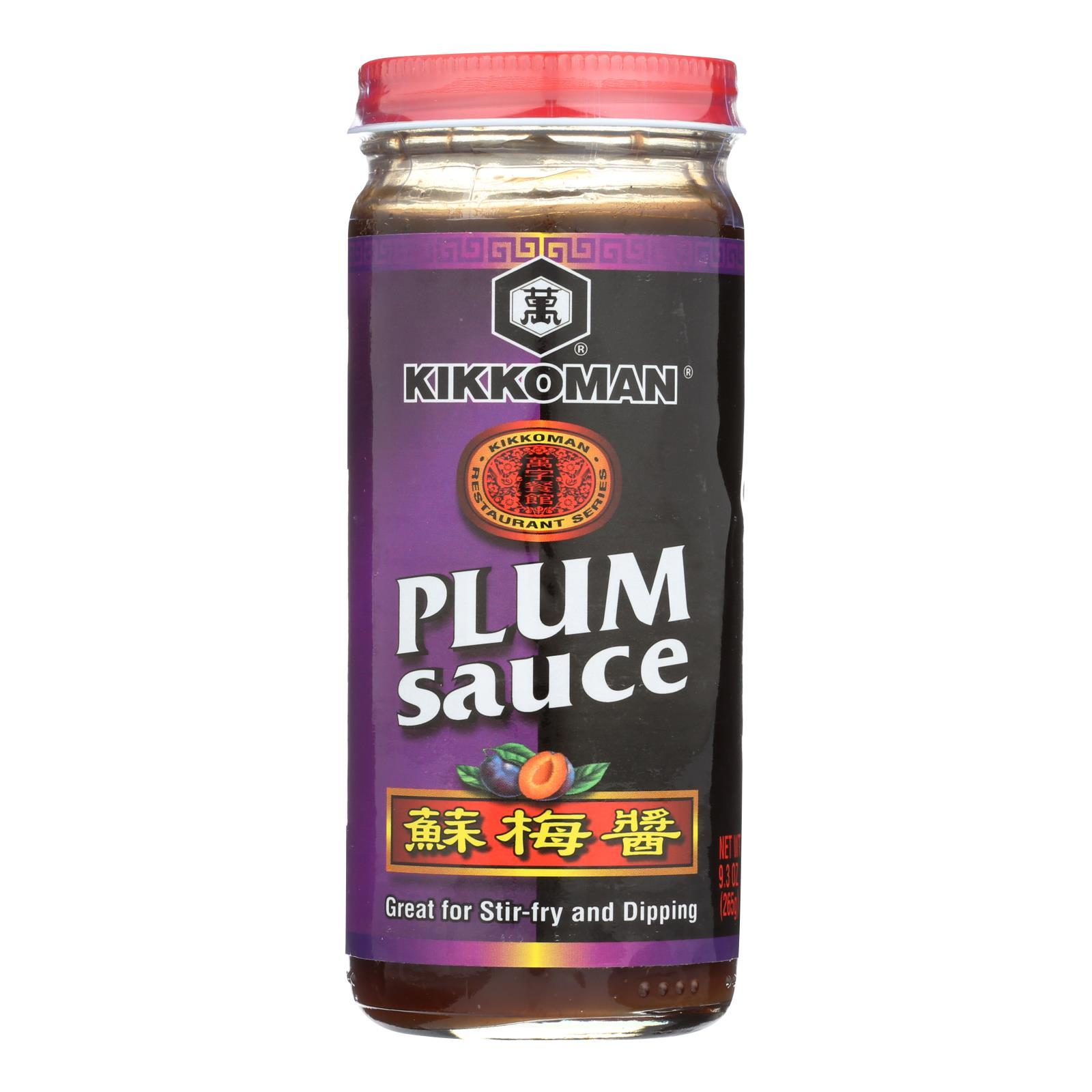 Kikkoman Plum Sauce - Case Of 12 - 9.2 Oz - BeeGreen
