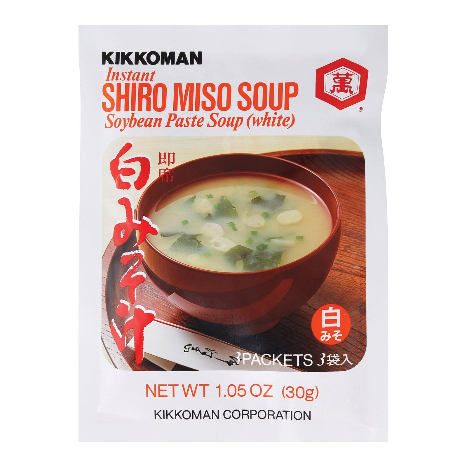 Kikkoman Soup - Instant Shiro Miso - Case Of 24 - 1.05 Oz - BeeGreen