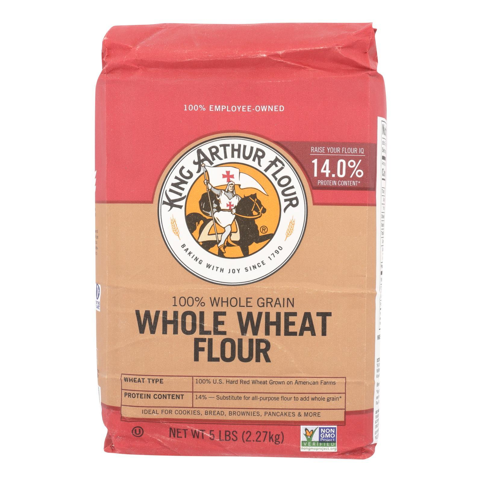 King Arthur Whole Wheat - Case Of 8 - 5 - BeeGreen