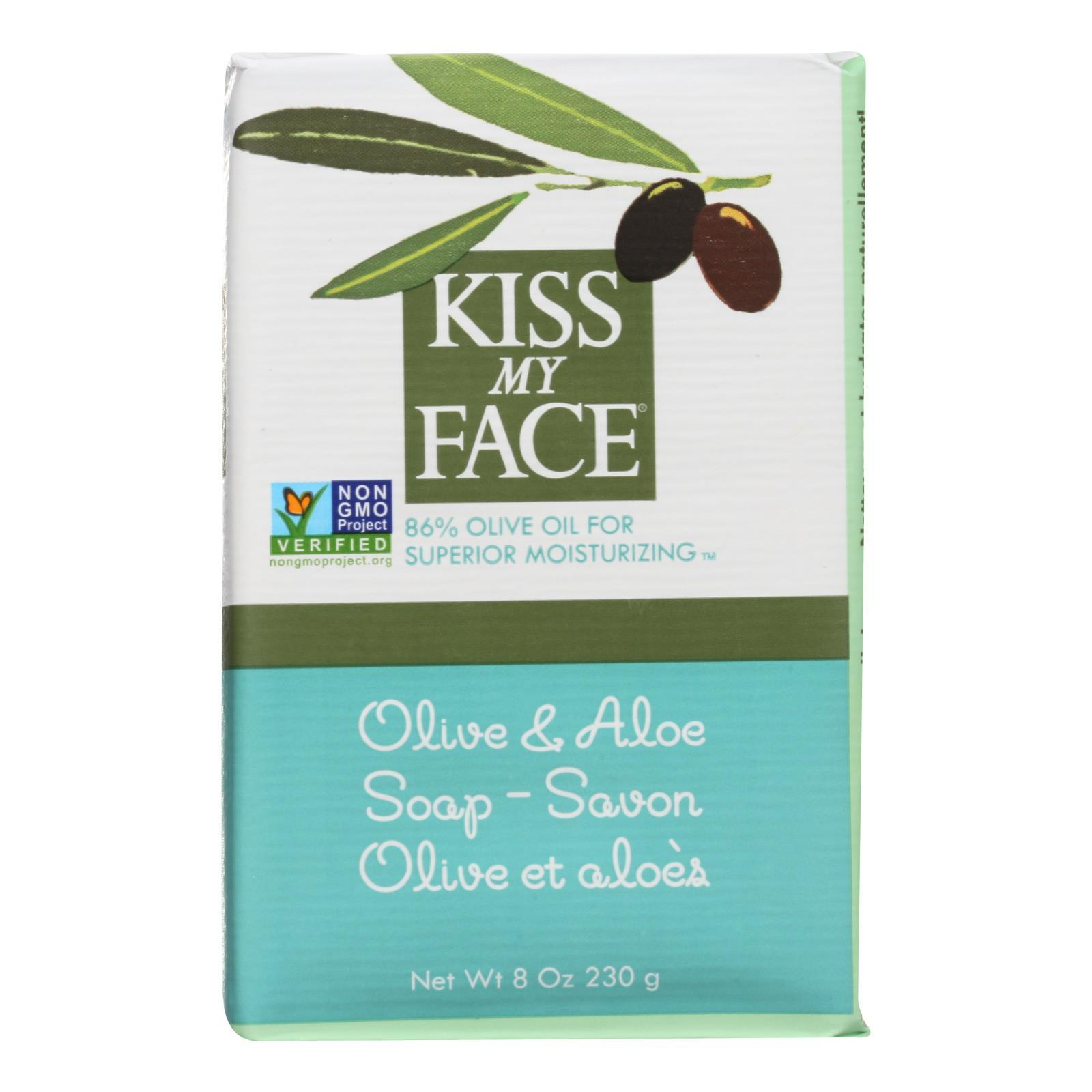 Kiss My Face Bar Soap Olive And Aloe - 8 Oz - BeeGreen