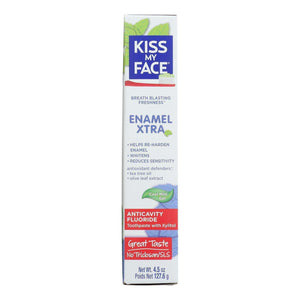Kiss My Face Enamel Extra Toothpaste - 4.5 Oz. - BeeGreen