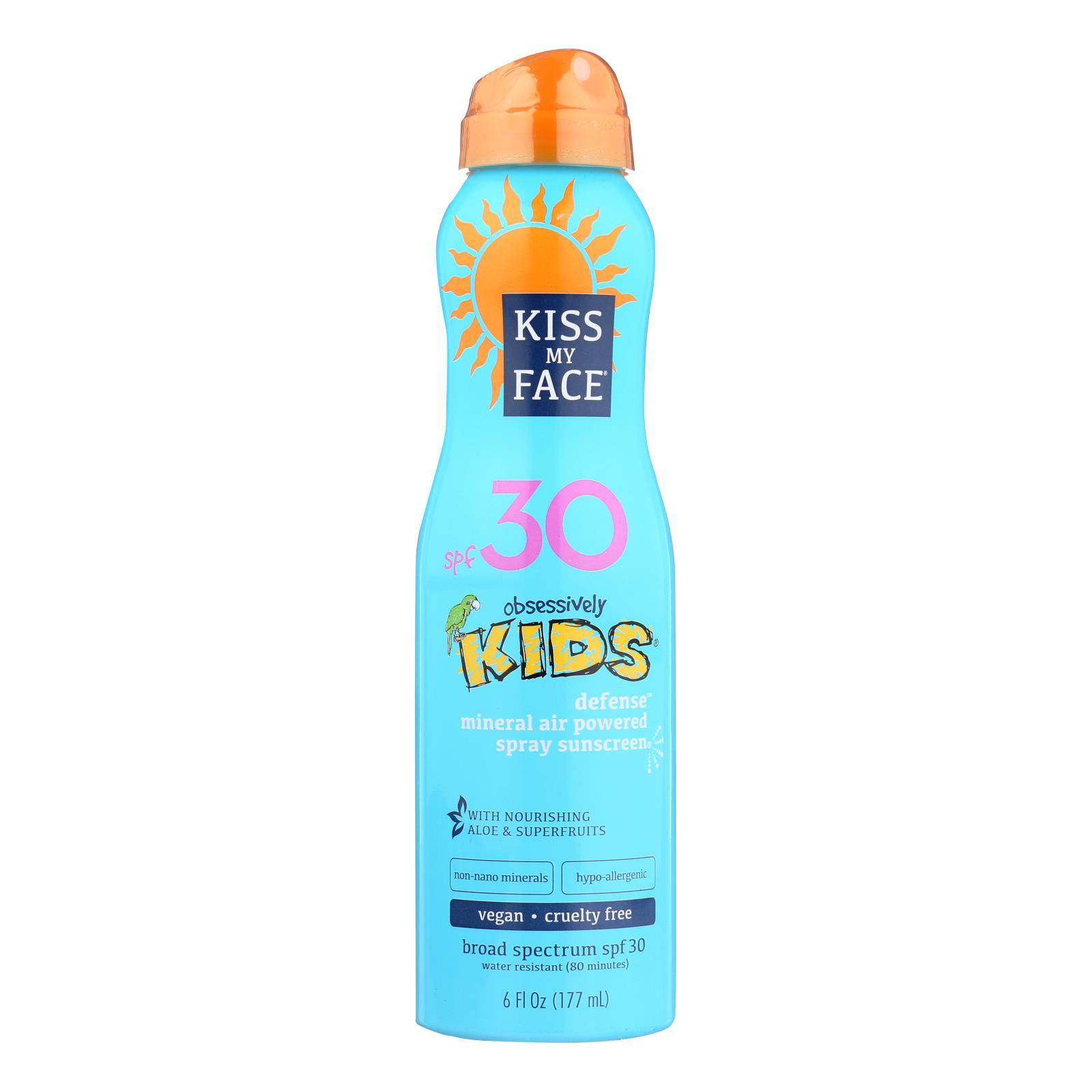 Kiss My Face Sunscreen - Mineral - Continuous Spray - Kids Defense - Spf 30 - 6 Oz - BeeGreen