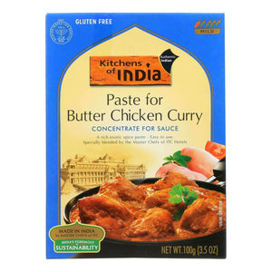 Kitchen Of India Paste - Butter Chicken Curry - 3.5 Oz - Case Of 6 - BeeGreen