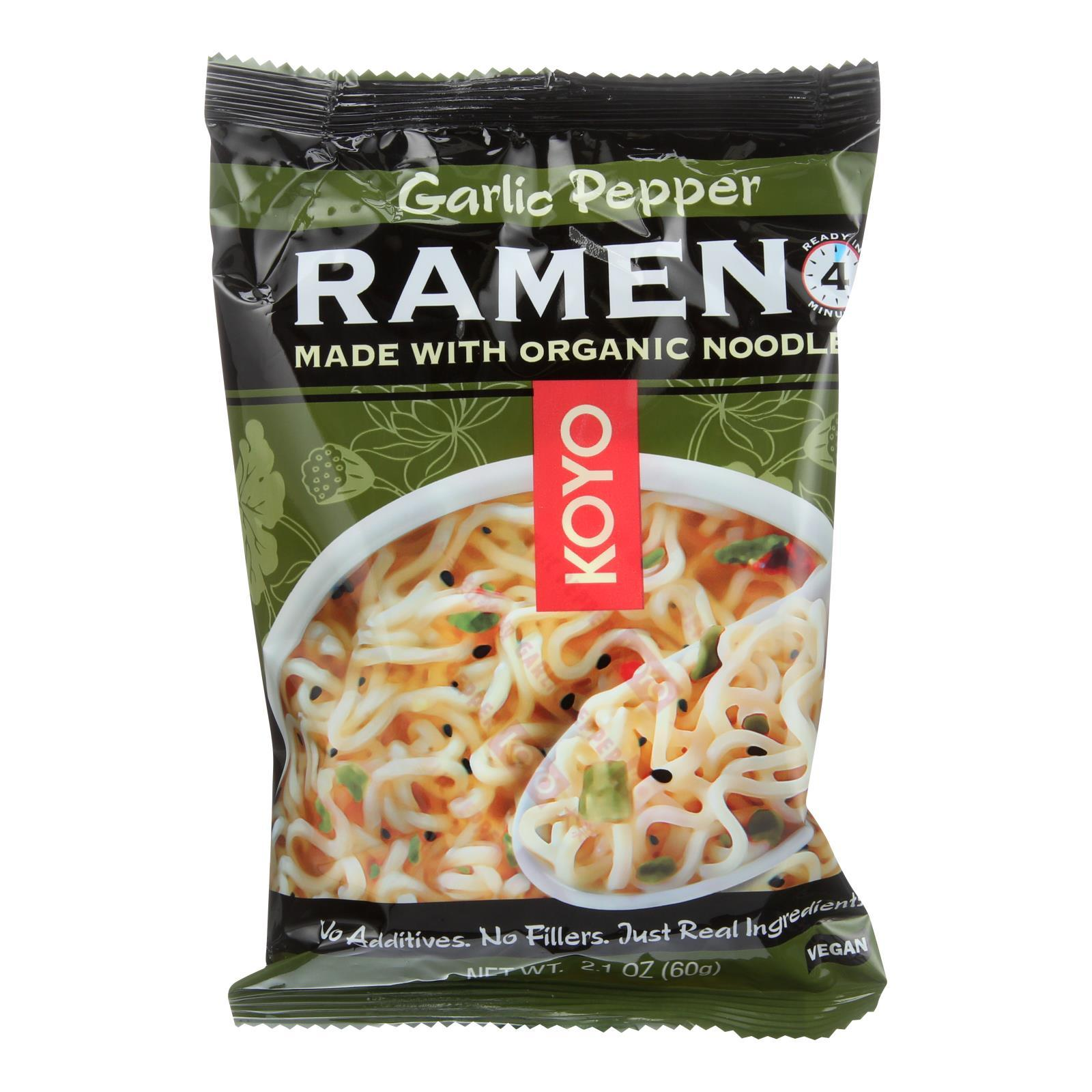 Koyo Garlic Pepper Ramen - Case Of 12 - 2.1 Oz - BeeGreen