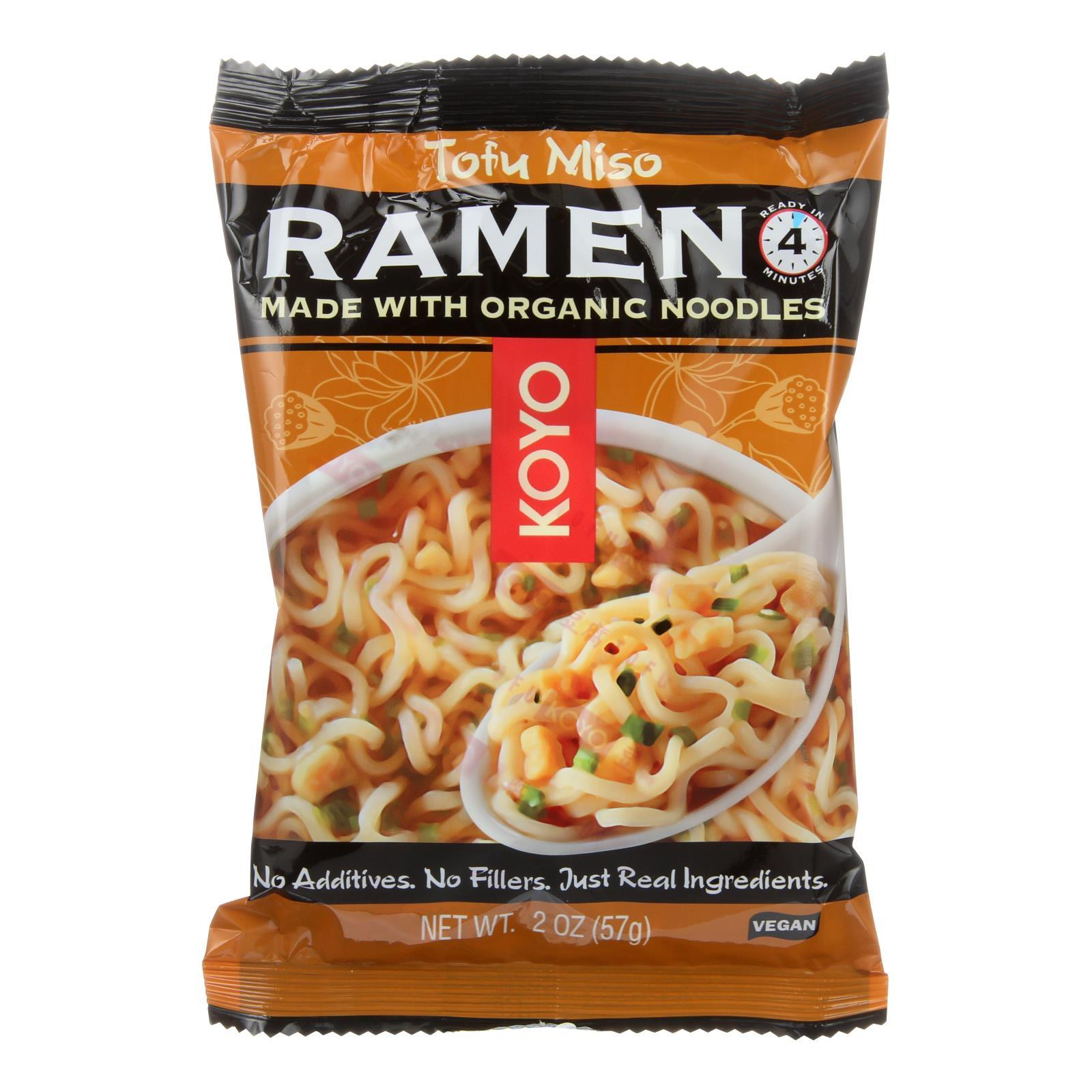 Koyo Tofu Miso Ramen - Case Of 12 - 2 Oz - BeeGreen
