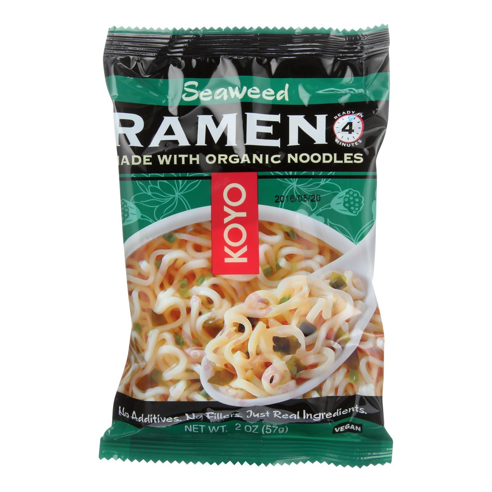 Koyo Wakame Seaweed Ramen - Case Of 12 - 2 Oz - BeeGreen