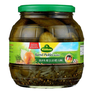 Kuhne Barrel Pickles - Case Of 6 - 34.2 Oz. - BeeGreen