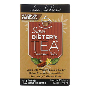 Laci Le Beau Maximum Strength Super Dieter's Tea Cinnamon Spice - 12 Tea Bags - BeeGreen