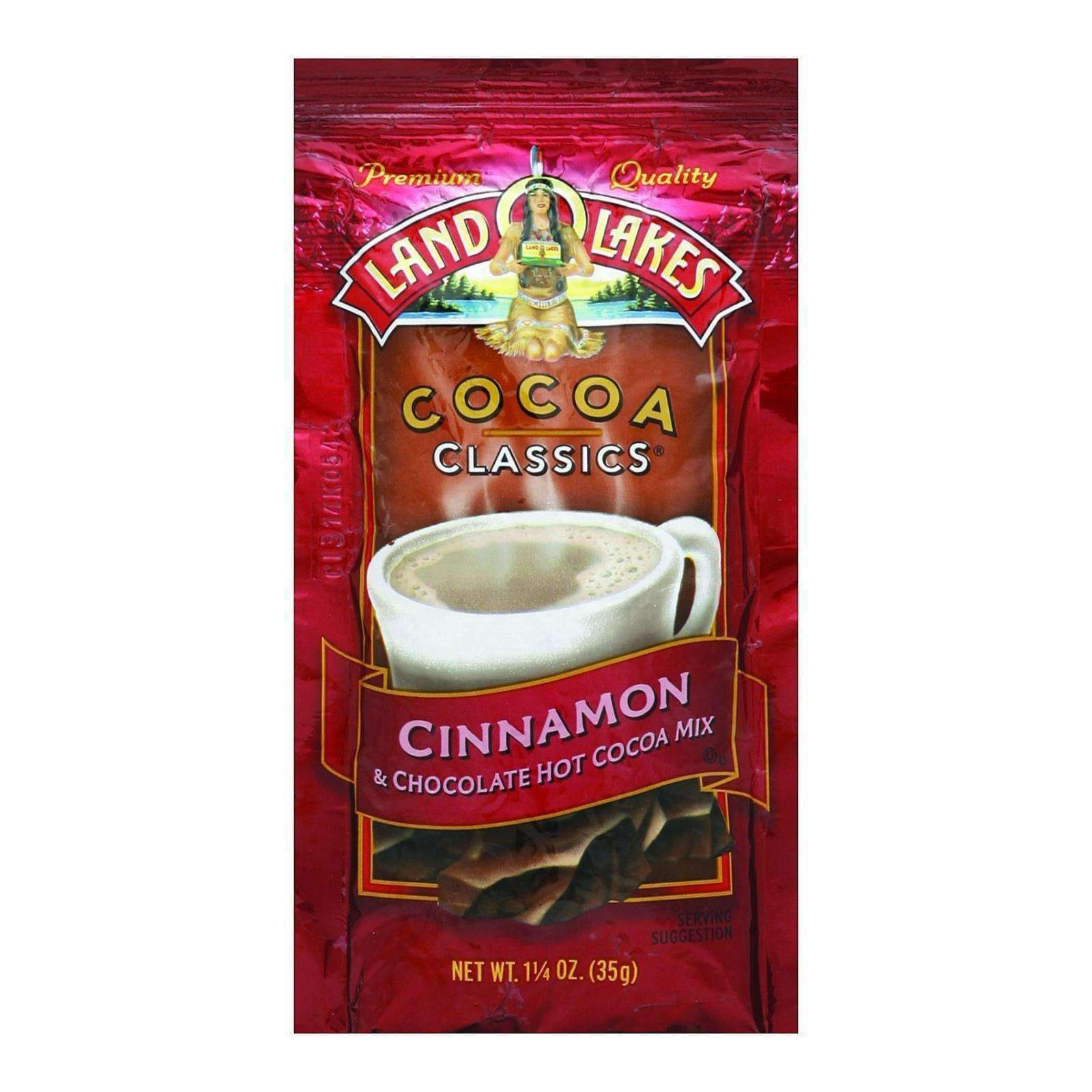 Land O Lakes Cocoa Classic Mix - Cinnamon And Chocolate - 1.25 Oz - Case Of 12 - BeeGreen