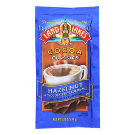Land O Lakes Cocoa Classic Mix - Hazelnut And Chocolate - 1.25 Oz - Case Of 12 - BeeGreen