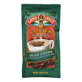 Land O Lakes Cocoa Classic Mix - Irish Creme And Chocolate - 1.25 Oz - Case Of 12 - BeeGreen