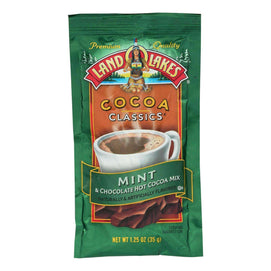 Land O Lakes Cocoa Classic Mix - Mint And Chocolate - 1.25 Oz - Case Of 12 - BeeGreen