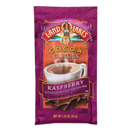 Land O Lakes Cocoa Classic Mix - Raspberry And Chocolate - 1.25 Oz - Case Of 12 - BeeGreen