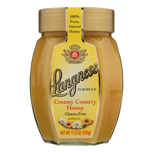 Langnese Honey Country Honey - Creamy - Case Of 10 - 17.6 Oz. - BeeGreen