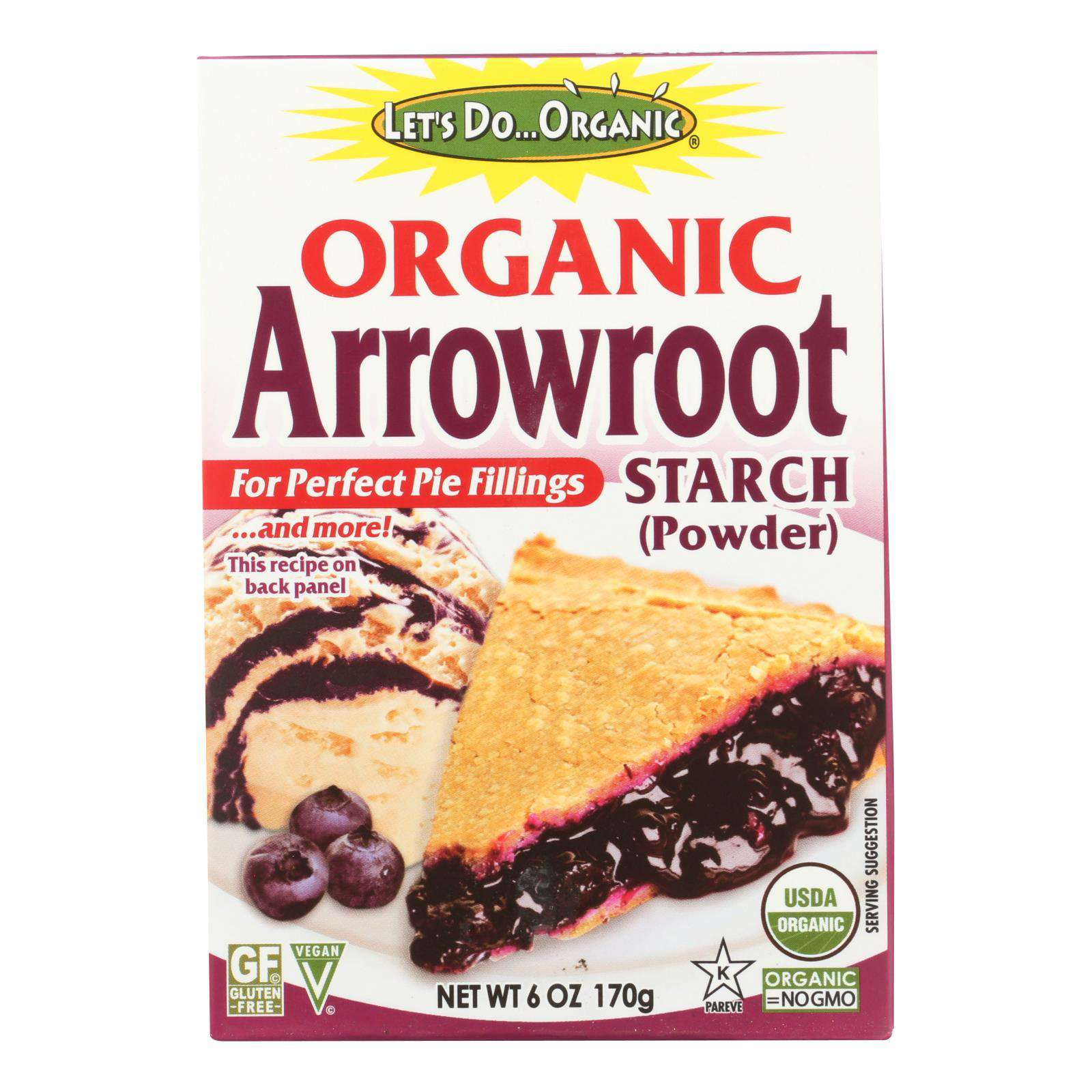 Let's Do Organic - Organic Arrowroot Starch - Case Of 6 - 6 Oz. - BeeGreen