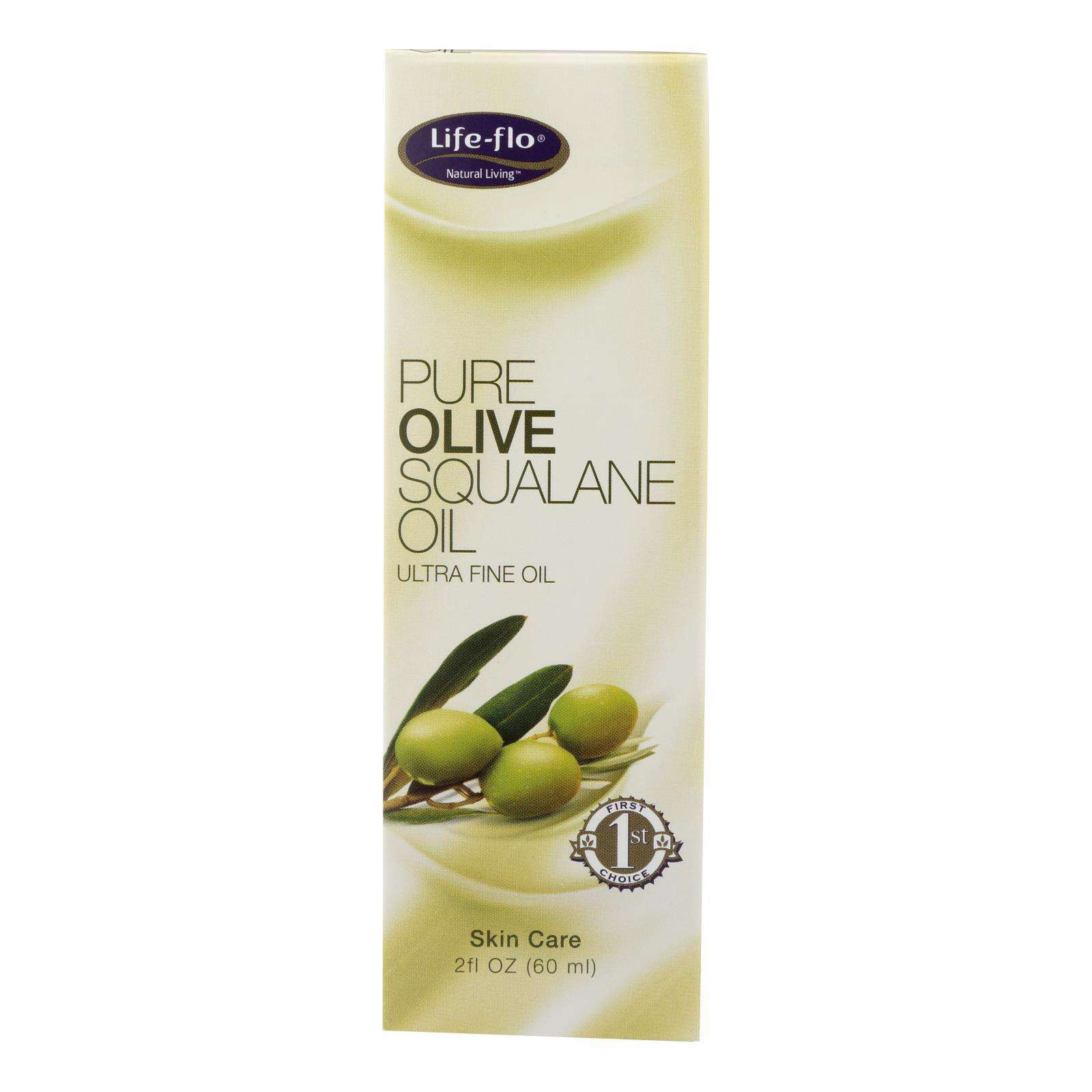 Life-flo Olive Squalane Oil Pure - 2 Fl Oz - BeeGreen