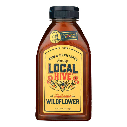Local Hive 100% Pure Raw & Unfiltered Honey - Case Of 6 - 16 Oz - BeeGreen