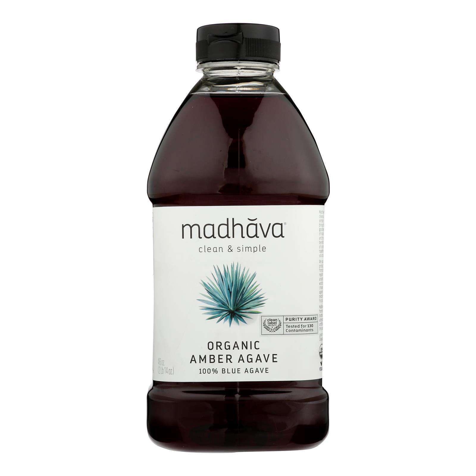 Madhava Honey Agave Nectar - Organic - Amber - Case Of 4 - 46 Oz - BeeGreen