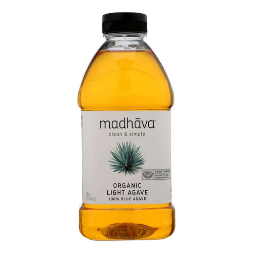 Madhava Honey Agave Nectar - Organic - Light - Case Of 4 - 46 Oz - BeeGreen