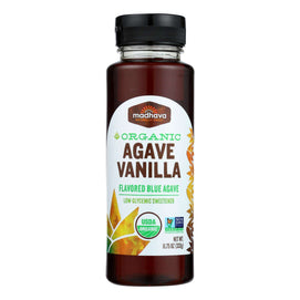Madhava Honey Organic Agave Nectar - Vanilla - Case Of 6 - 11.75 Fl Oz. - BeeGreen