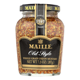 Maille Old Style Whole Grain Dijon Mustard - Case Of 6 - 7.3 Oz. - BeeGreen
