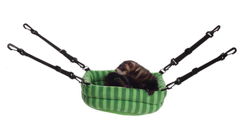 Marshall Cage Accessory 2-N-1 Ferret Bed - BeeGreen