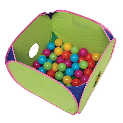 Marshall Pet Pop-n-Play Ball Pit with Plastic Balls 14x14x10 - BeeGreen