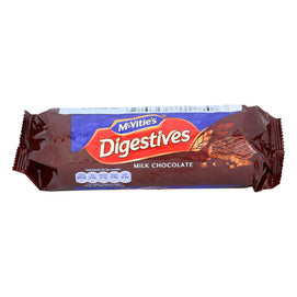 Mcvitie's Digestive Wheat Biscuits Covered In Milk Chocolate - Case Of 15 - 10.5 Oz - BeeGreen