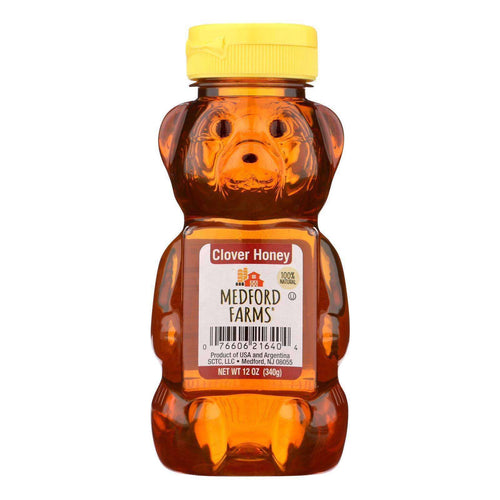 Medford Farms Bear - Honey - Case Of 12 - 12 Oz - BeeGreen