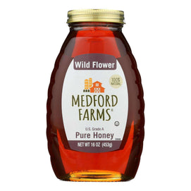 Medford Farms Honey - Wild Flower - Case Of 12 - 16 Oz - BeeGreen