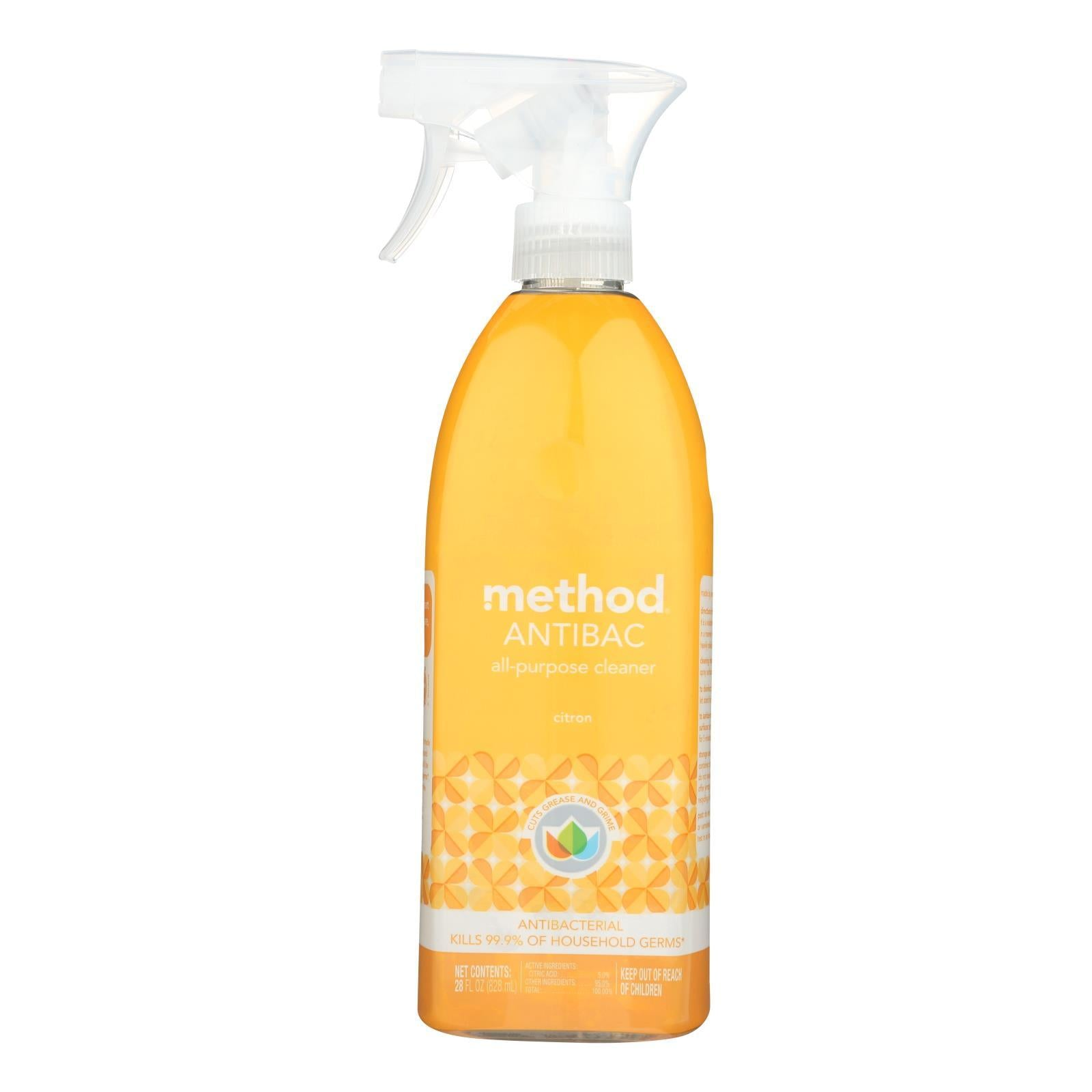 Method - Method - All-purpose Cleaner - Antibacterial Citron - Case Of 8 - 28 Fl Oz. - BeeGreen
