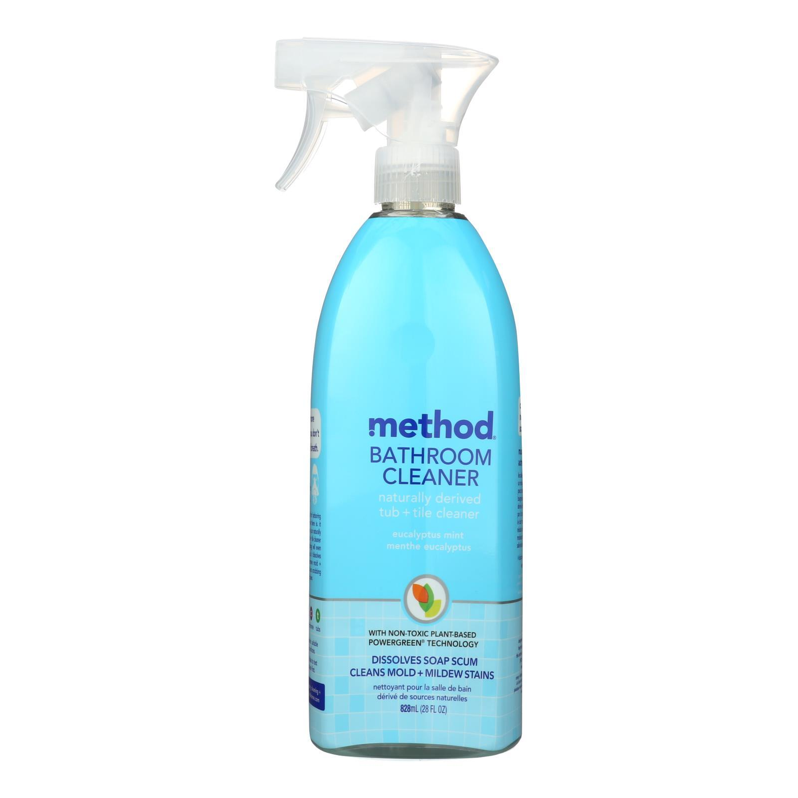 Method Products Tub And Tile Spray - Eucalyptus - 28 Oz - Case Of 8 - BeeGreen
