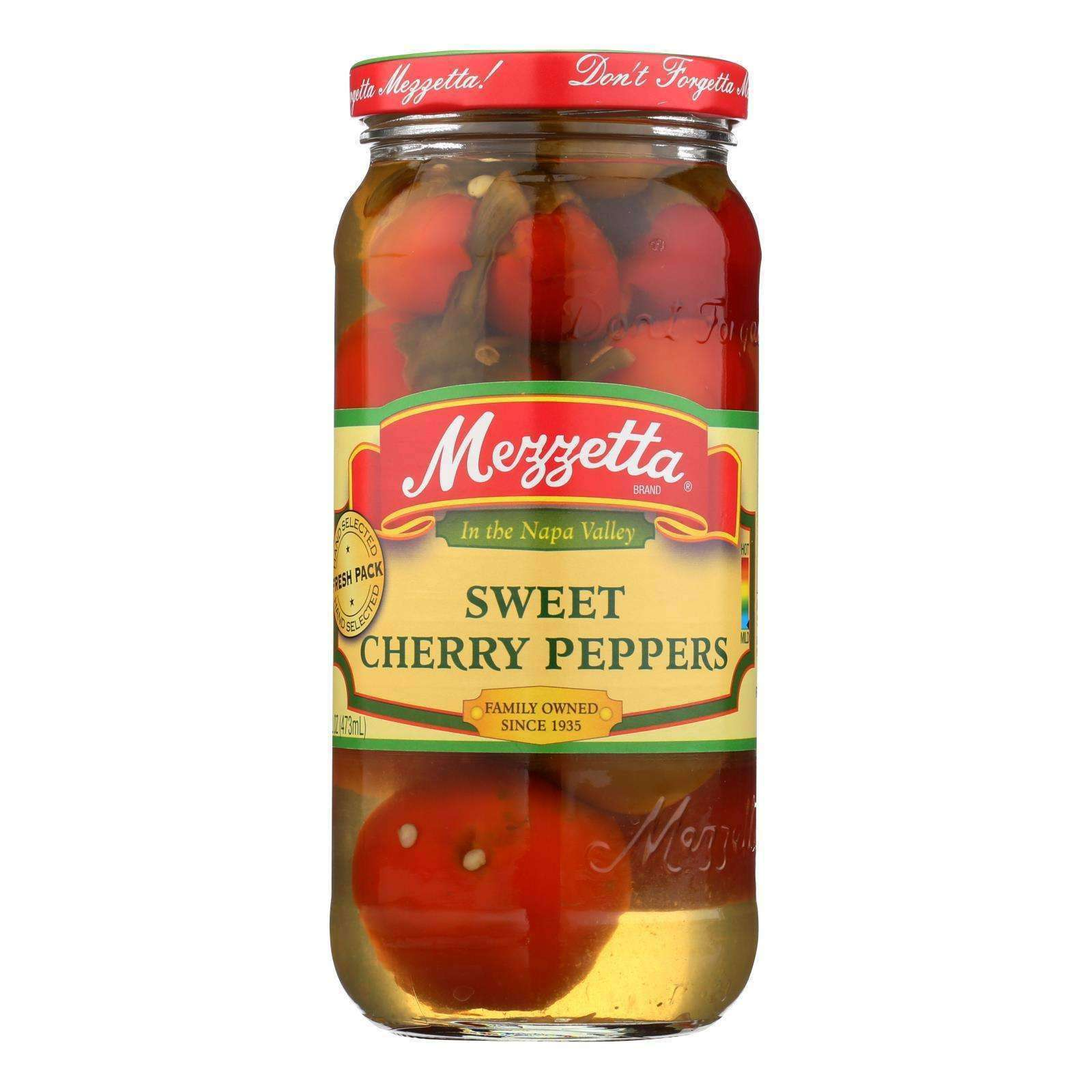 Mezzetta Sweet Cherry Peppers - Case Of 6 - 16 Oz. - BeeGreen