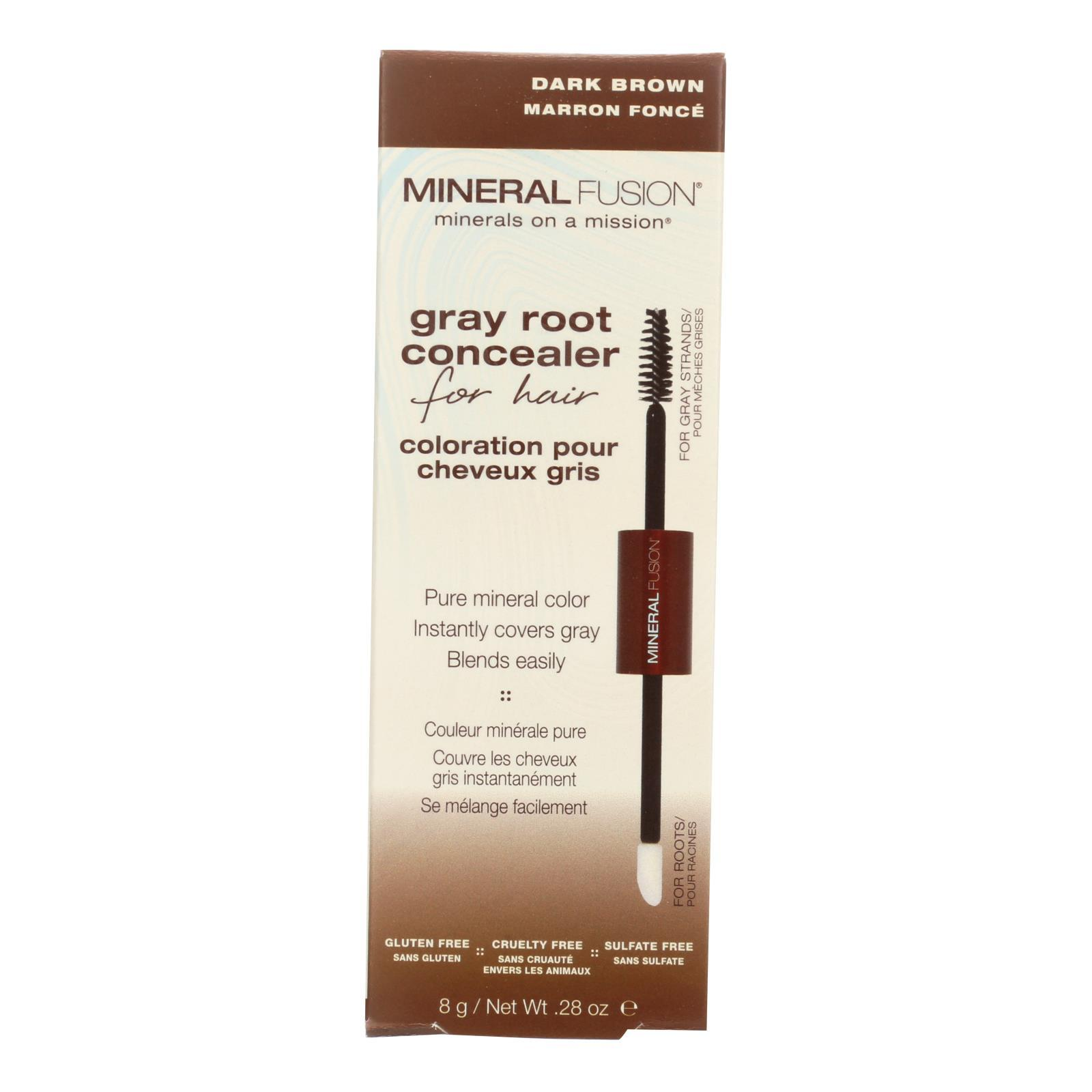 Mineral Fusion - Gray Root Concealer - Dark Brown - 0.28 Oz. - BeeGreen