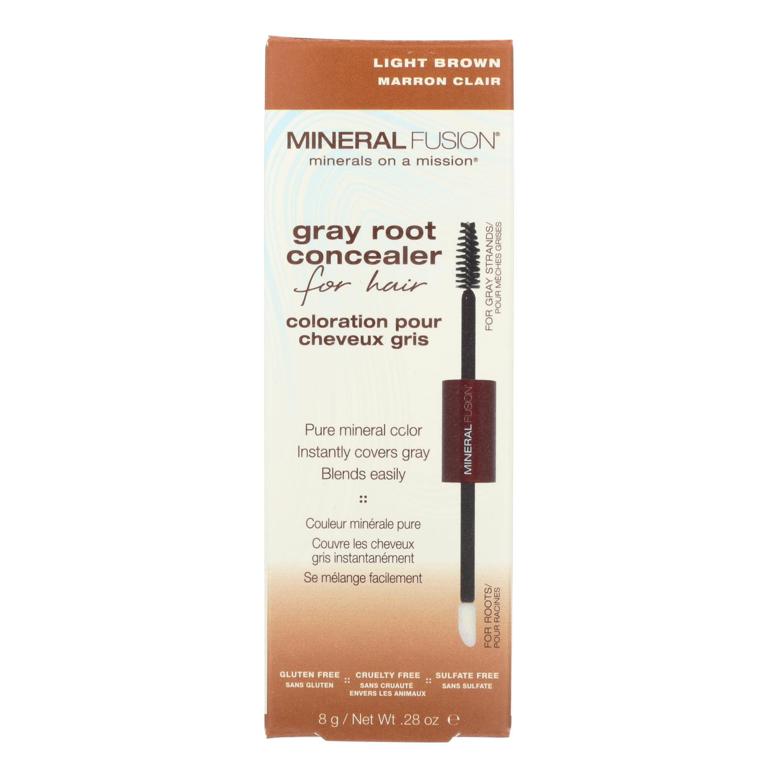Mineral Fusion - Gray Root Concealer - Light Brown - 0.28 Oz. - BeeGreen