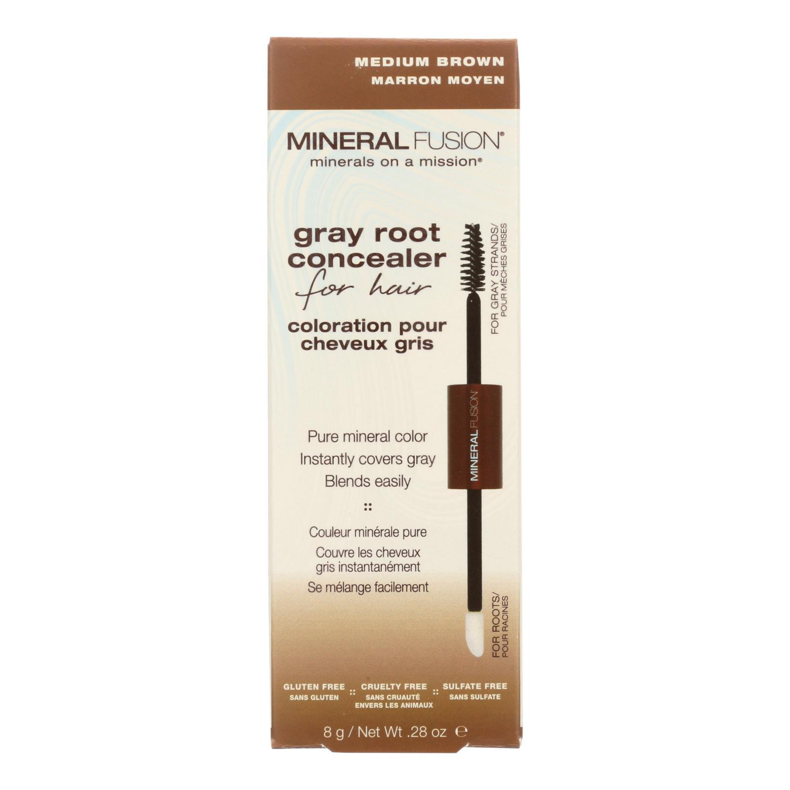 Mineral Fusion - Gray Root Concealer - Medium Brown - 0.28 Oz. - BeeGreen