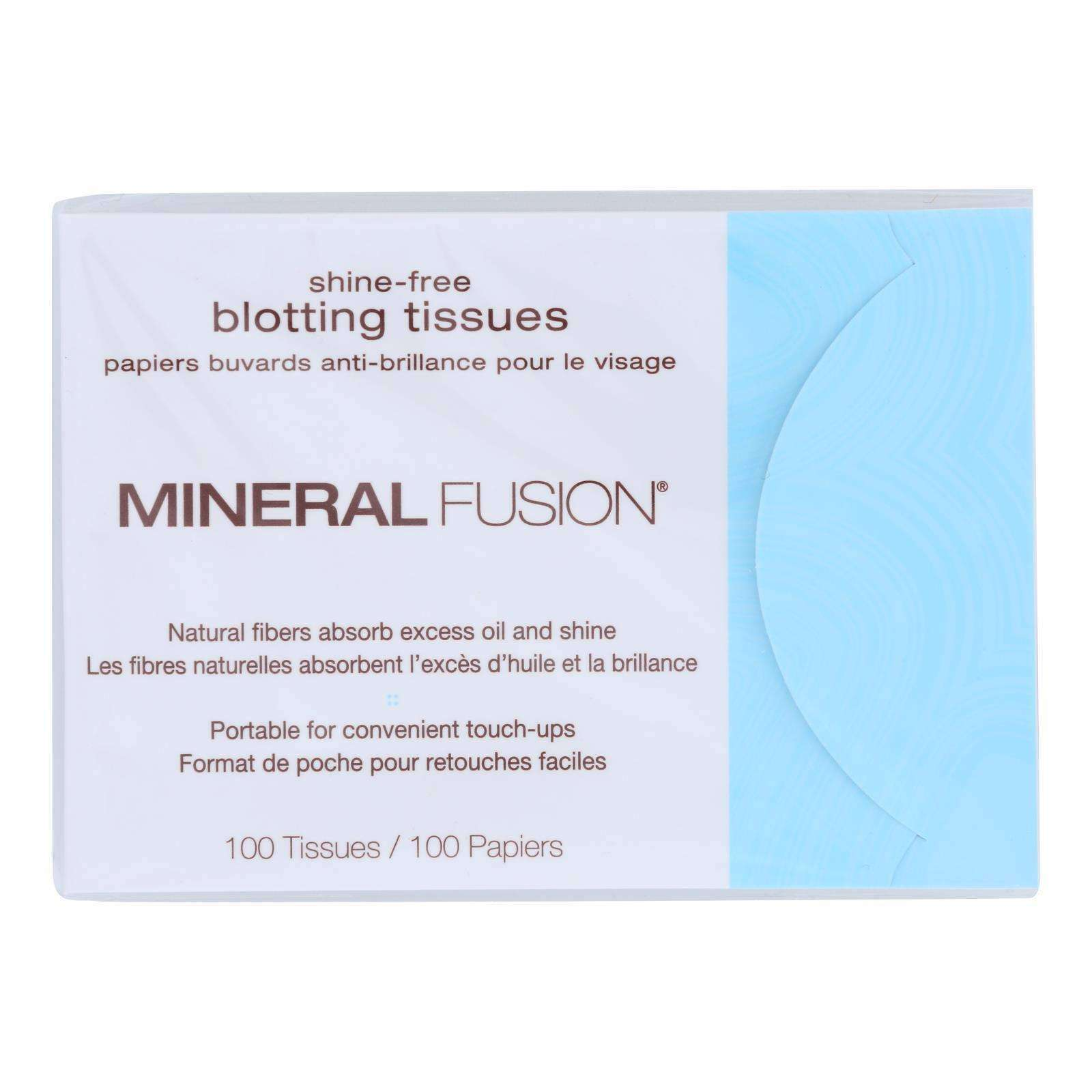 Mineral Fusion - Shine-free Blotting Tissues - 100 Count - BeeGreen