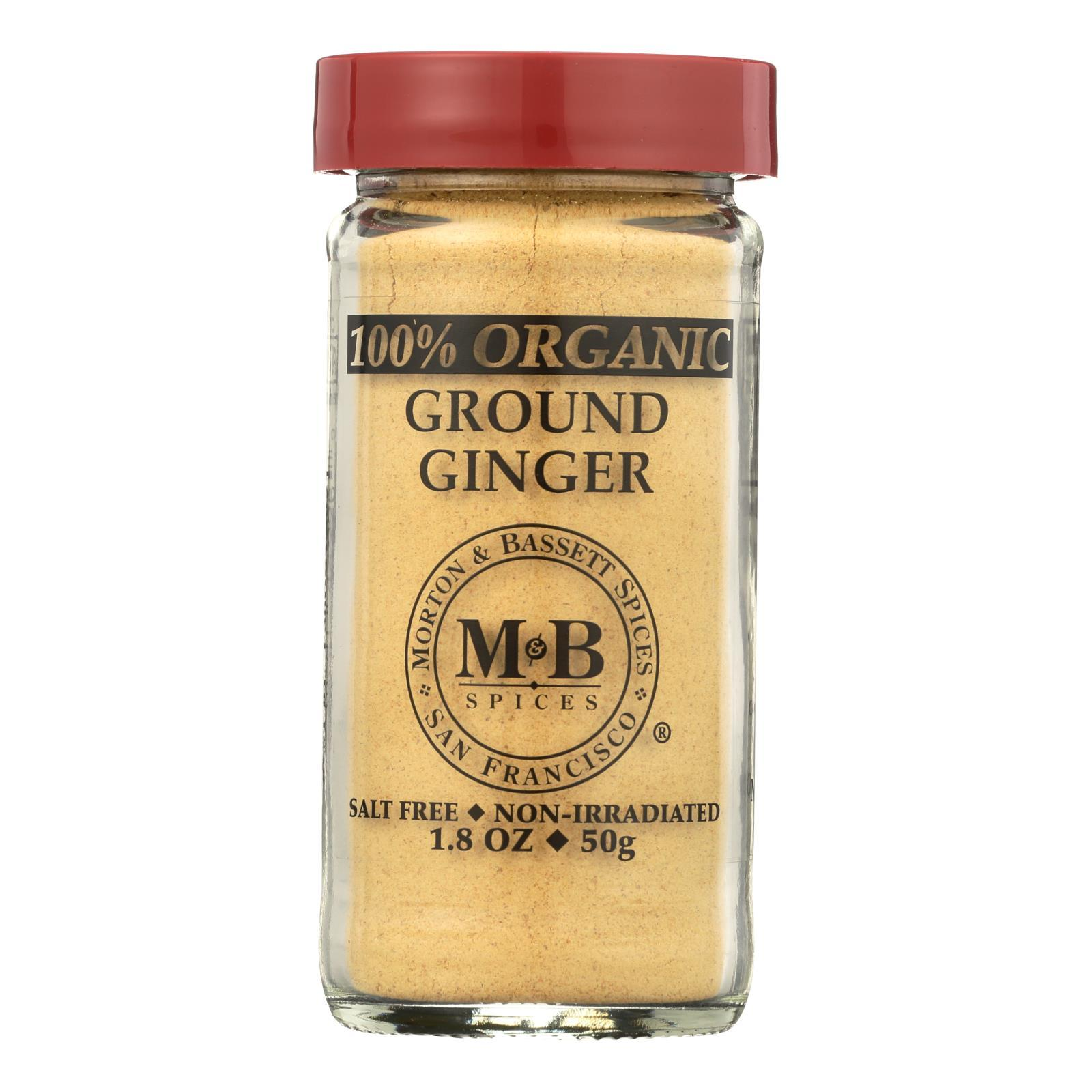 Morton And Bassett 100% Organic Ground Ginger - Case Of 3 - 1.8 Oz - BeeGreen