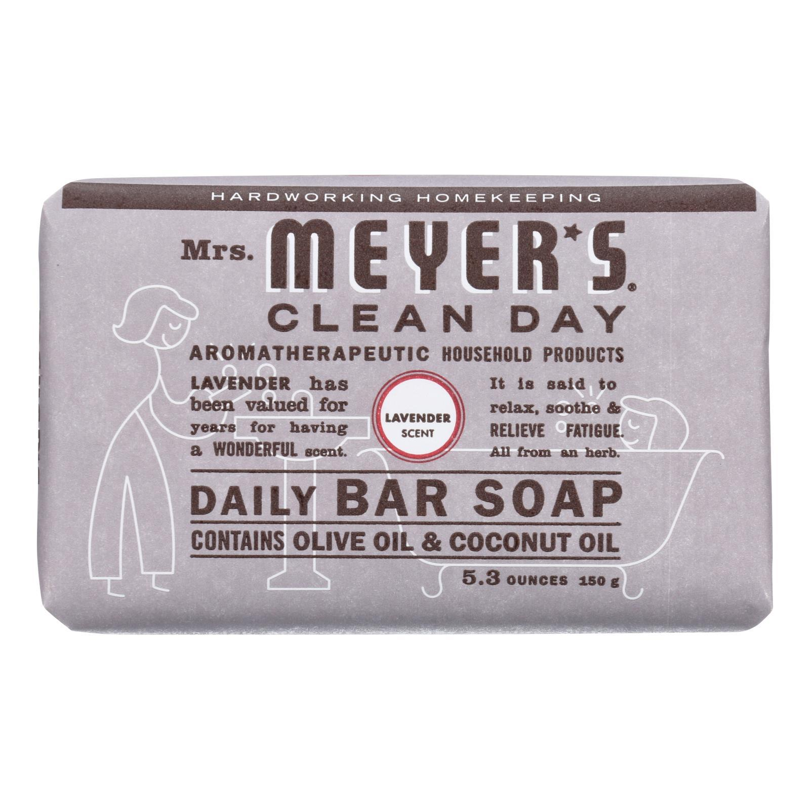 Mrs. Meyer's Clean Day - Bar Soap - Lavender - 5.3 Oz - Case Of 12 - BeeGreen