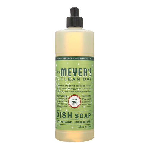 Mrs. Meyer's Clean Day - Liquid Dish Soap - Iowa Pine - Case Of 6 - 16 Fl Oz. - BeeGreen