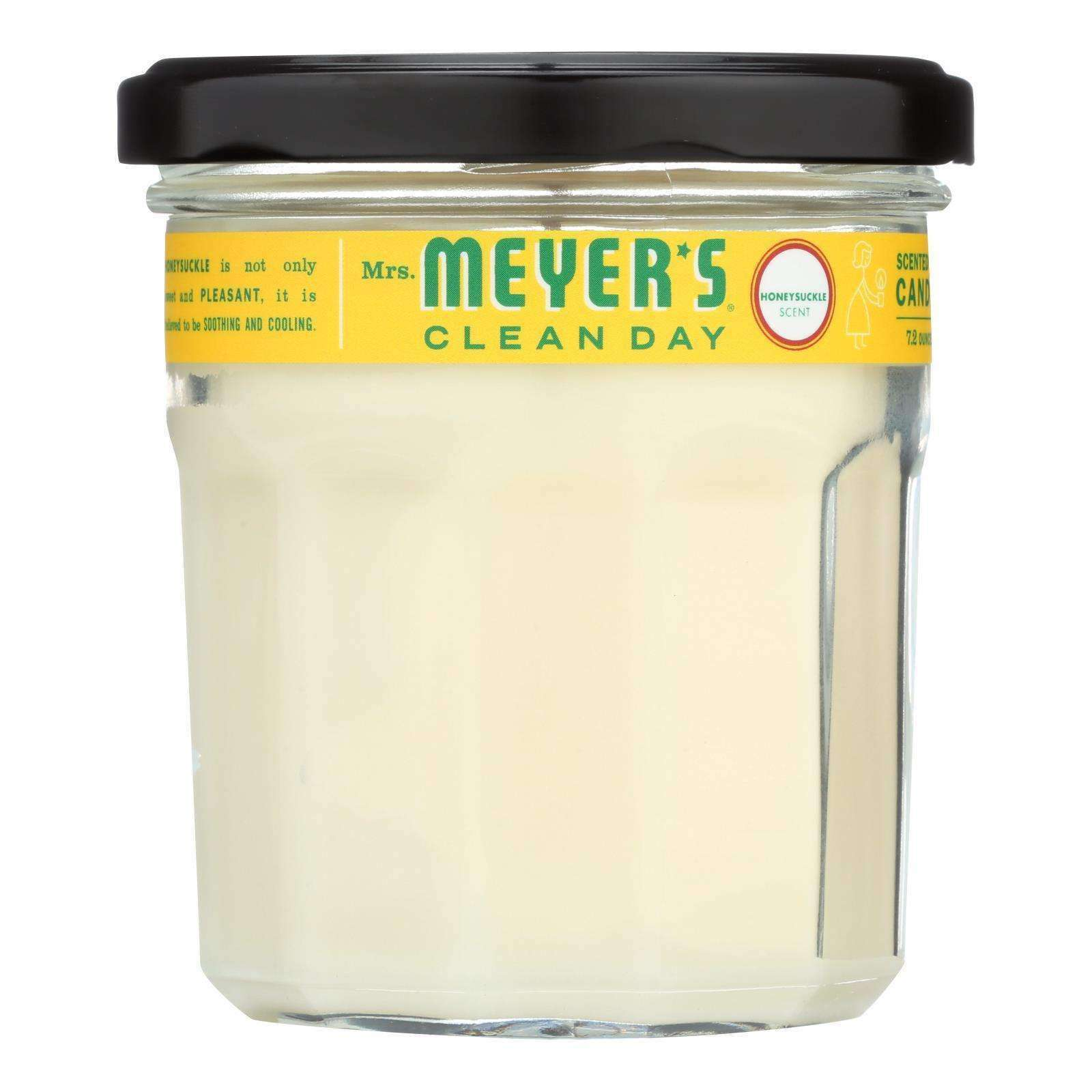 Mrs. Meyer's Clean Day - Soy Candle - Honeysuckle - Case Of 6 - 7.2 Oz - BeeGreen