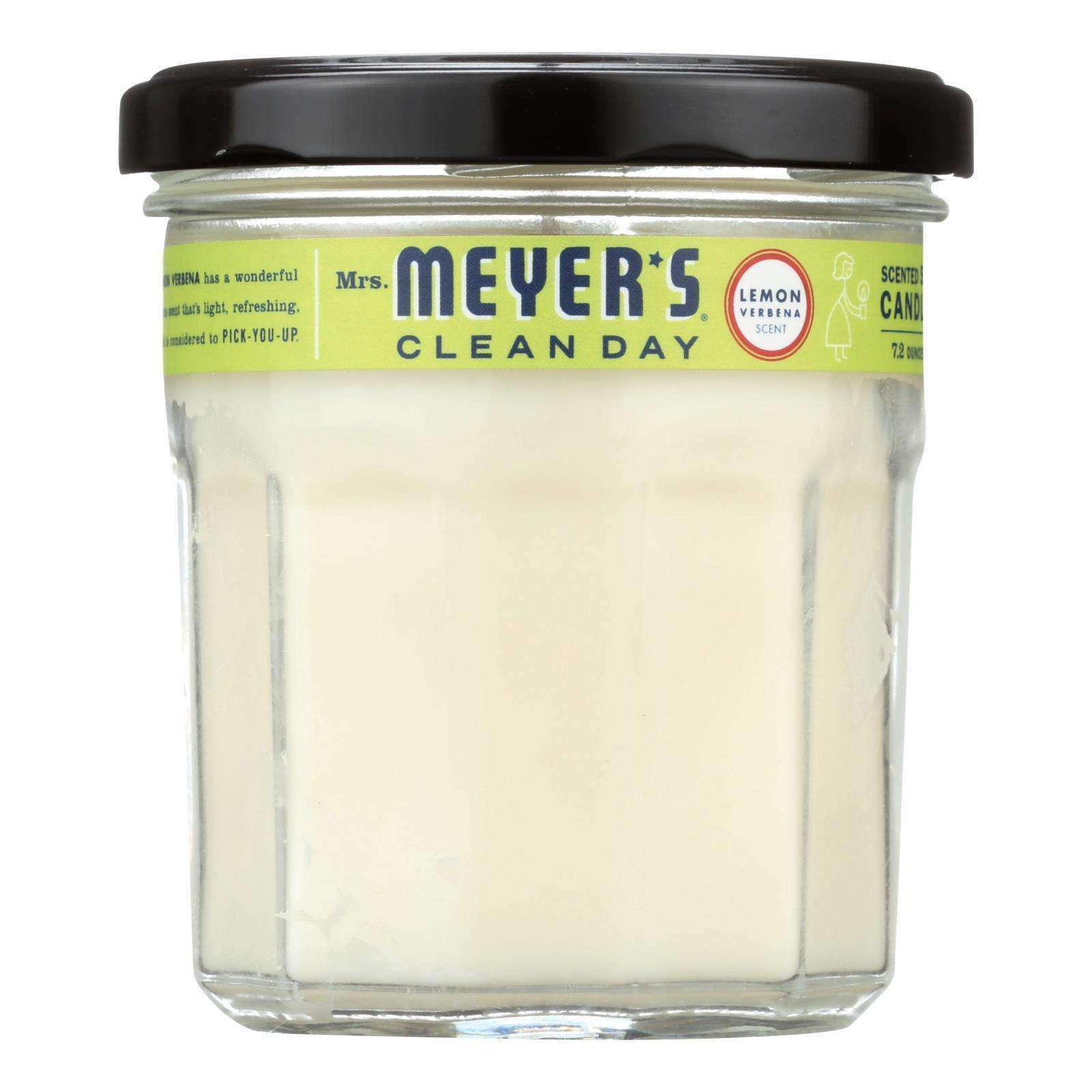 Mrs. Meyer's Clean Day - Soy Candle - Lemon Verbena - Case Of 6 - 7.2 Oz Candles - BeeGreen