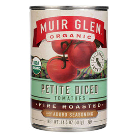 Muir Glen Diced Adobo Fire Roasted Tomato - Tomato - Case Of 12 - 14.5 Oz. - BeeGreen