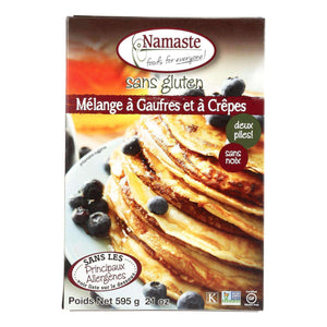 Namaste Foods Gluten Free Waffle And Pancake - Mix - Case Of 6 - 21 Oz. - BeeGreen