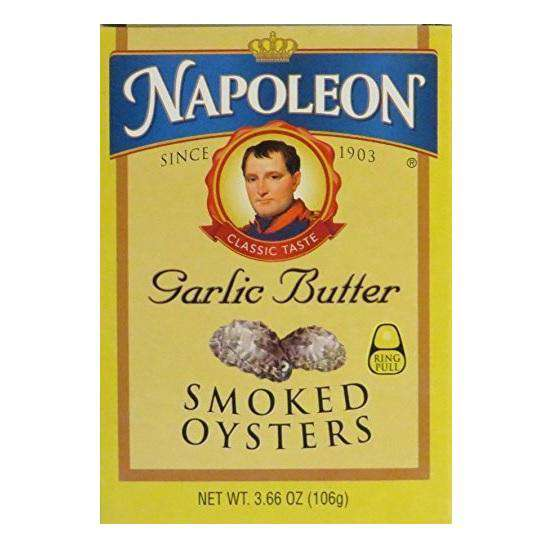 Napoleon Garlic Butter Smoked Oysters (1x3.66 OZ) - BeeGreen