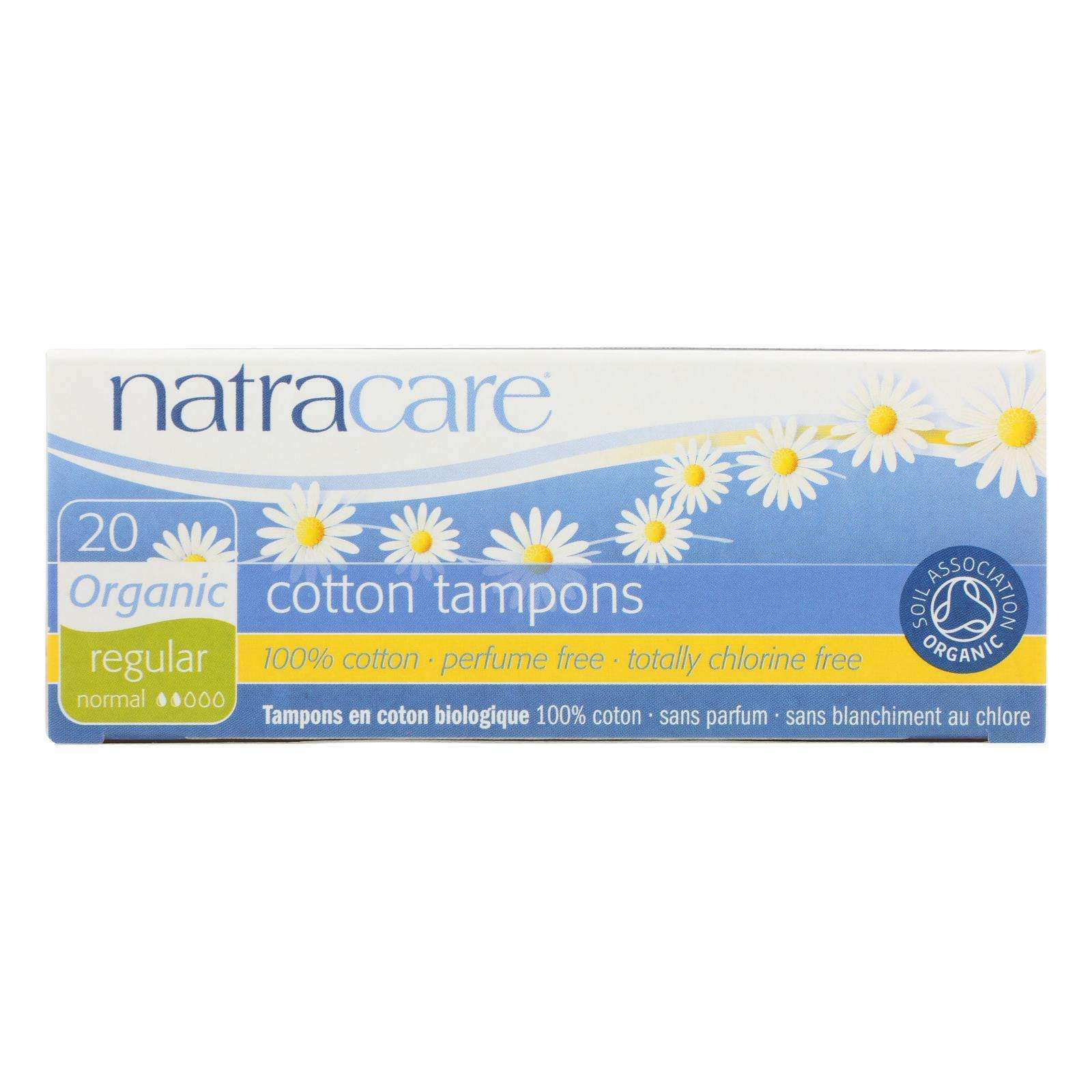 Natracare 100% Organic Cotton Tampons Regular - 20 Tampons - BeeGreen